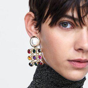 Pearl Party Rainbow Earrings